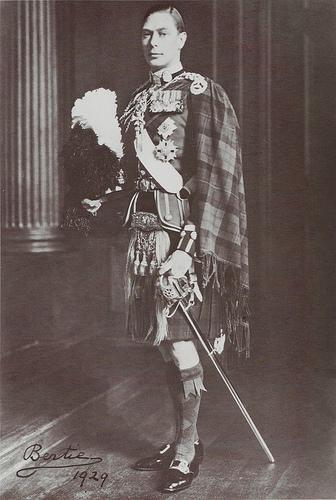 Будщий король Георг VI в молодости