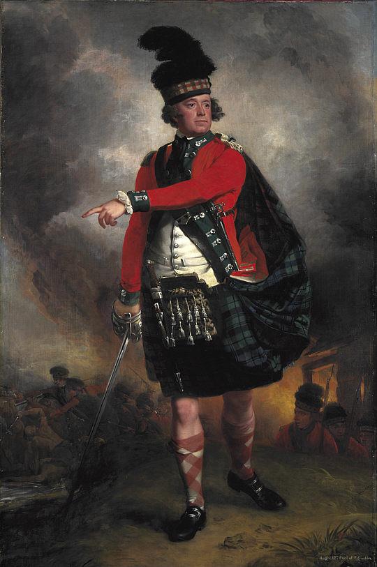 Хью Монтгомери, 12-й эрл Эглинтона, во время службы в 77-й полку горцев в 1760-е годы в Америке