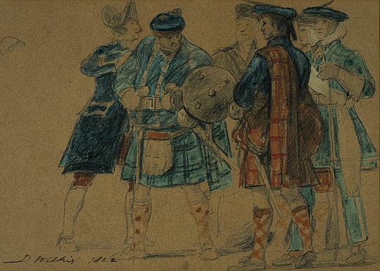 Сценка из 1822-го года – обратите внимание на разнообразие одежд