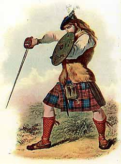 Во время якобитской авантюры 1745-го года килт-юбка использовался  горцами-якобитами